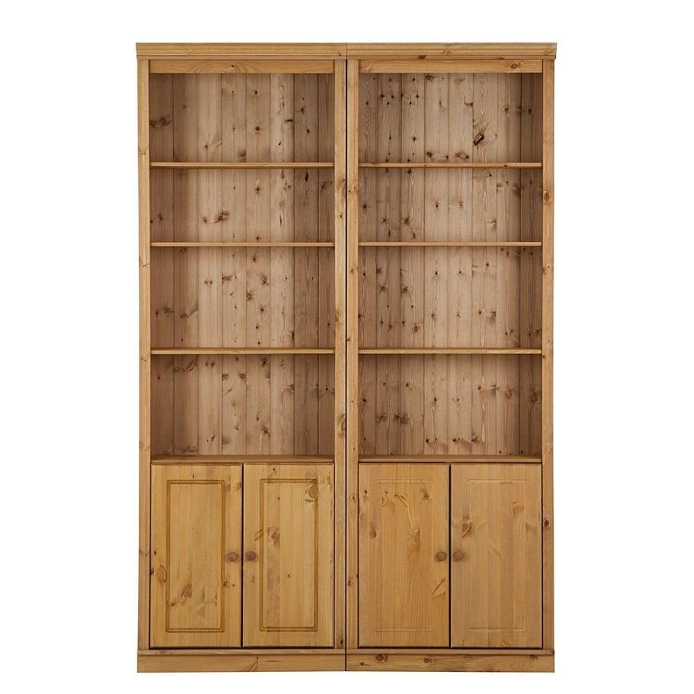 br zowa biblioteczka z litego drewna sosnowego st raa annabelle szeroko 146 cm bonami. Black Bedroom Furniture Sets. Home Design Ideas