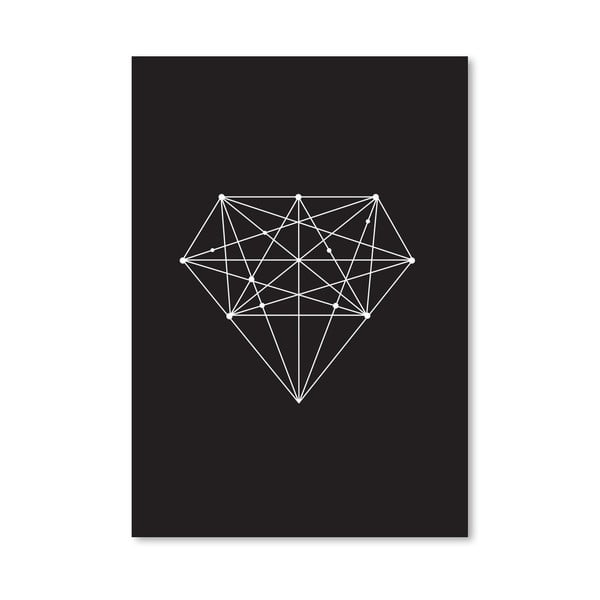 "Plakat ""Diamond Black"", 42x60 cm"
