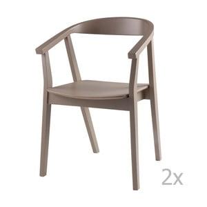 Zestaw 2 jasnoszarych krzeseł sømcasa Donna