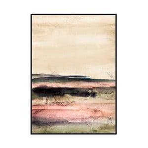 Obraz w ramie z drewna sosnowego Moycor Pink Tones, 100x140 cm