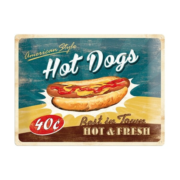 Blaszana tablica Hot Dog, 30x40 cm