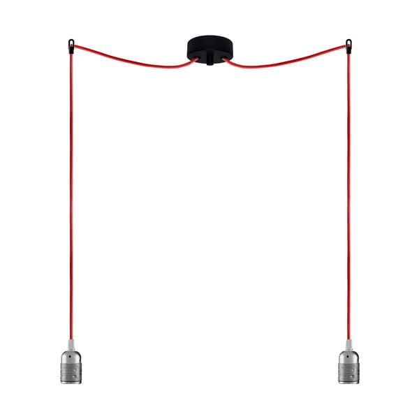 Dwa wiszące kable Uno, srebrny/czerwony