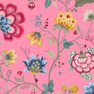 Tapeta Pip Studio Floral Fantasy, 0,52x10 m, różowa