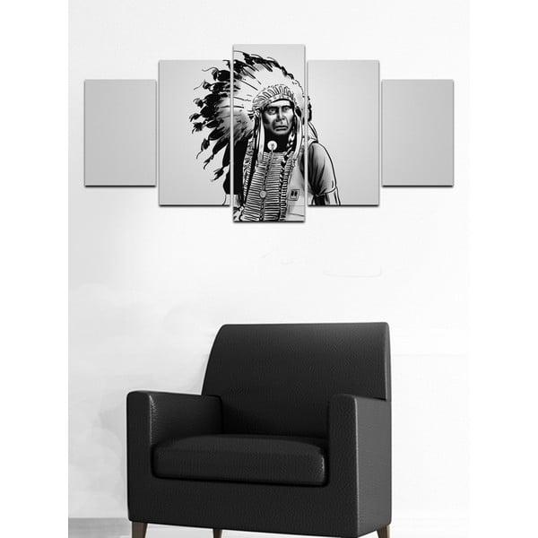 Wieloczęściowy obraz Black&White no. 80, 100x50 cm