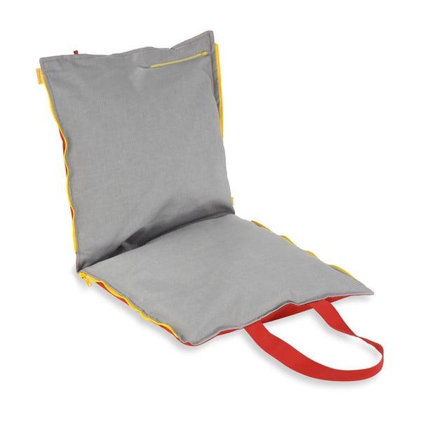 Przenośne siedzisko + torba Hhooboz 100x50 cm, czerwone