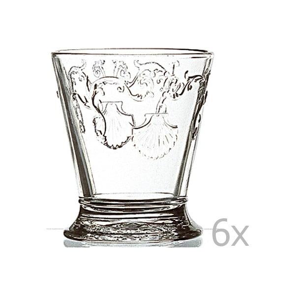 Zestaw 6 szklanek typu short Versailles, 250 ml