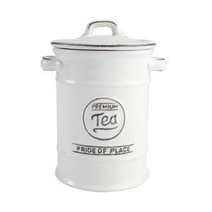 Biały pojemnik ceramiczny na herbatę Pride of Place