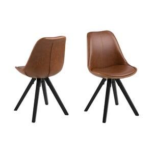 Zestaw 2 brązowych krzeseł Actona Dama