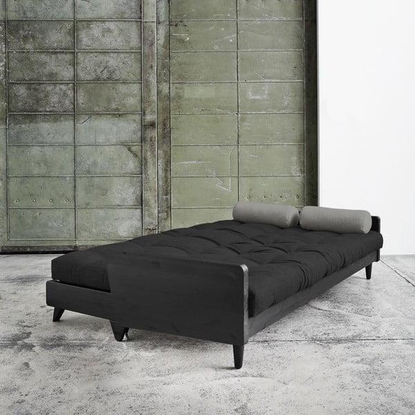 Sofa rozkładana Karup Indie Black/Dark Grey/Granite Grey