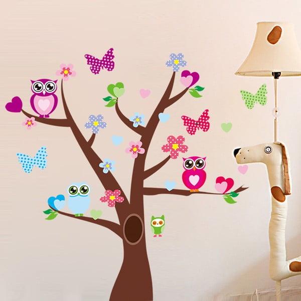 Naklejka   Tree and Butterflies on Tree
