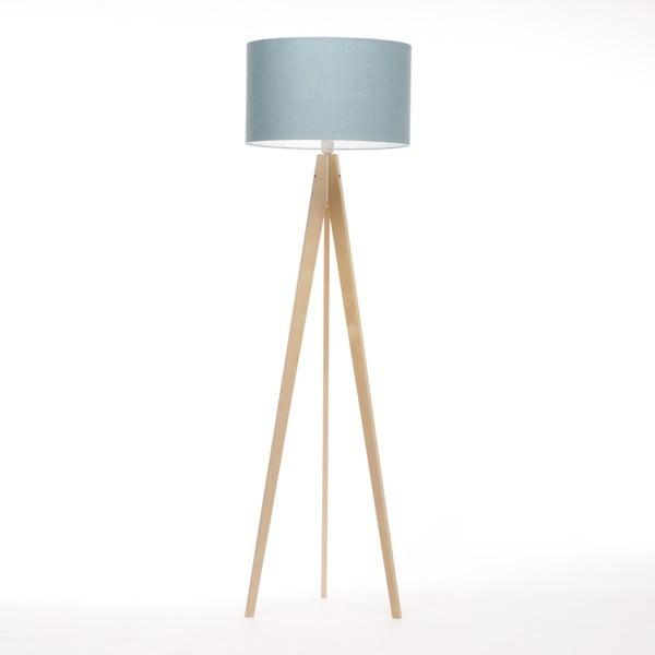 Niebiesko-szara lampa stojąca Artist, brzoza, 150 cm