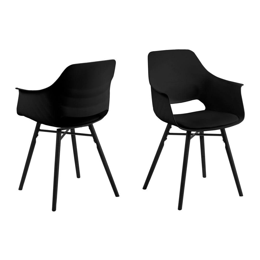 Zestaw 2 czarnych krzeseł Actona Ramona Dining Set Total Black