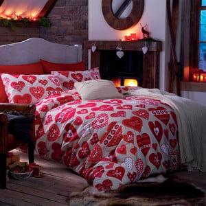 Pościel Red Hearts, 135x200 cm