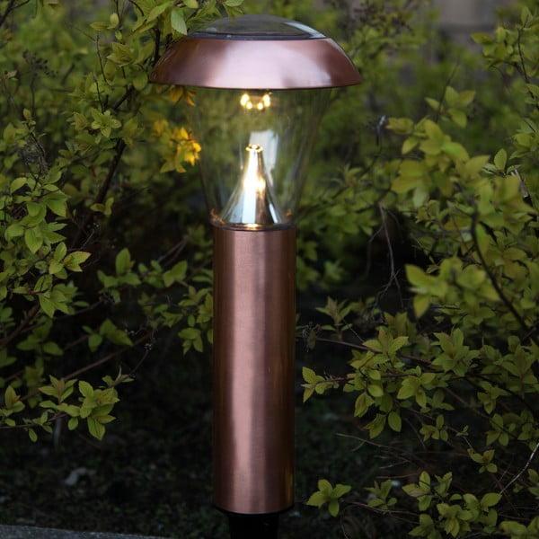 Miedziana lampa ogrodowa LED Best Season Minimal