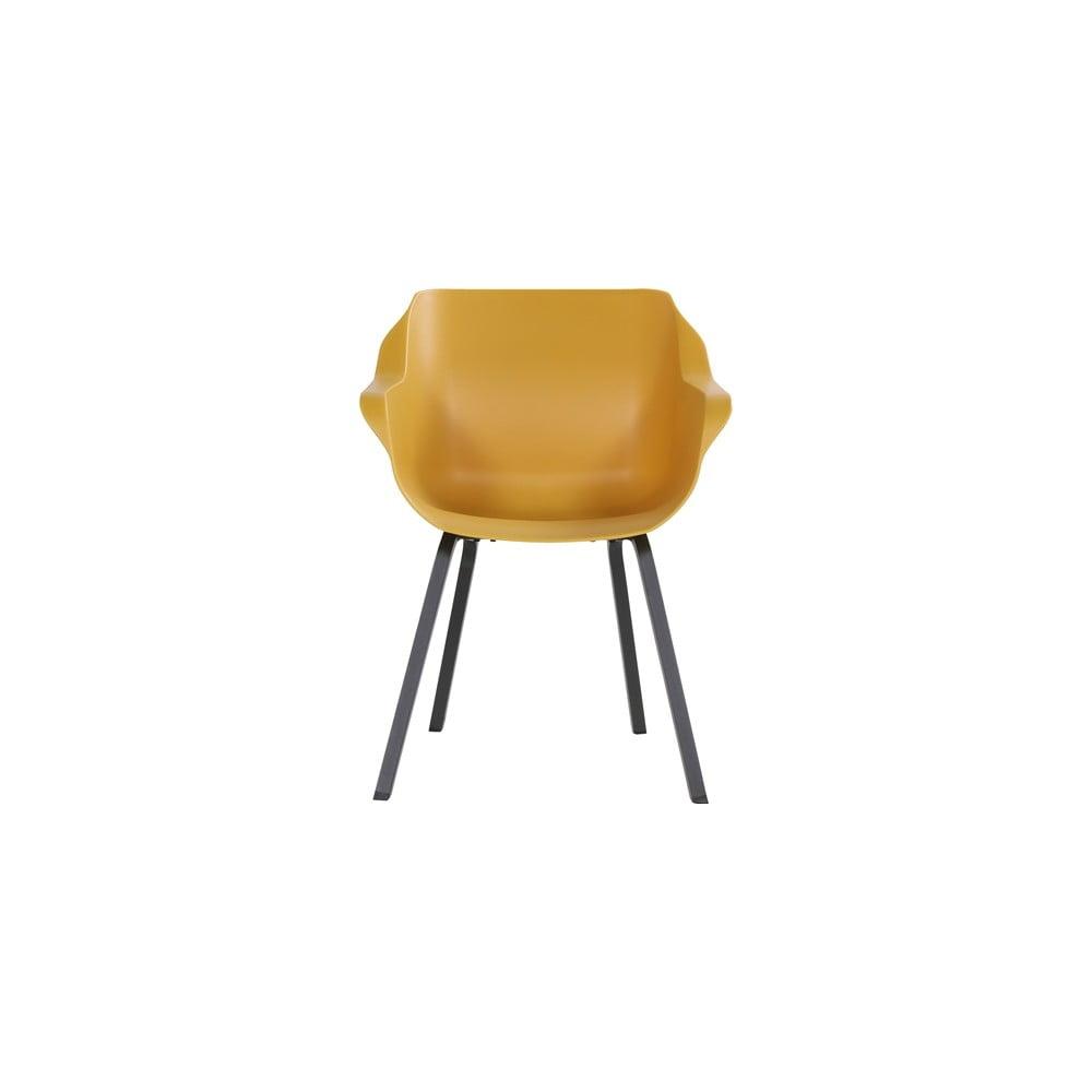 Zestaw 2 musztardowożółtych krzeseł ogrodowych Hartman Sophie