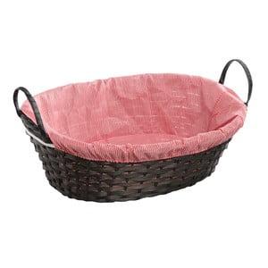 Bambusowy koszyk Vichy Red, 38x31 cm
