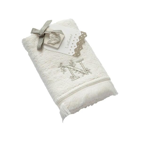 Ręcznik z inicjałem N, 30x50 cm
