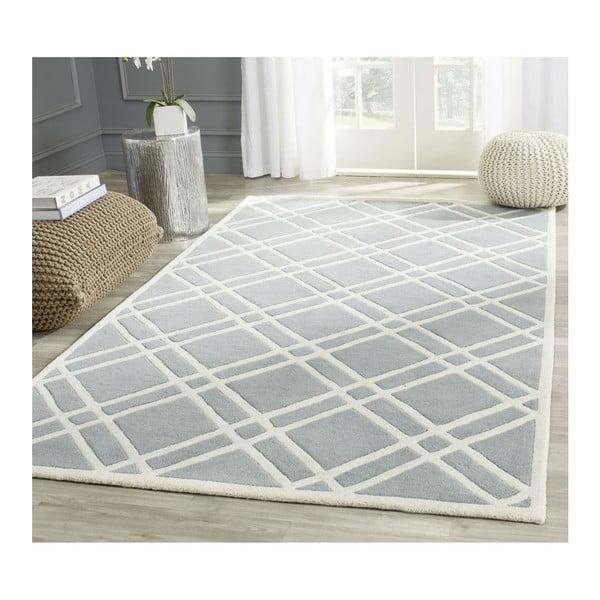 Wełniany dywan Cameron Light Blue, 152x243 cm