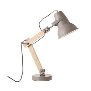 Grafitowa lampa z drewna i metalu Unimasa