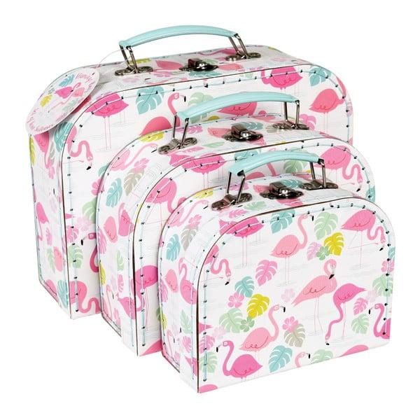 Zestaw 3 walizek Rex London Flamingo Bay