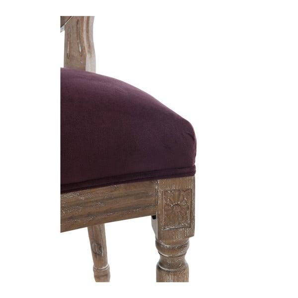 Bordowe dębowe krzesło Versailles