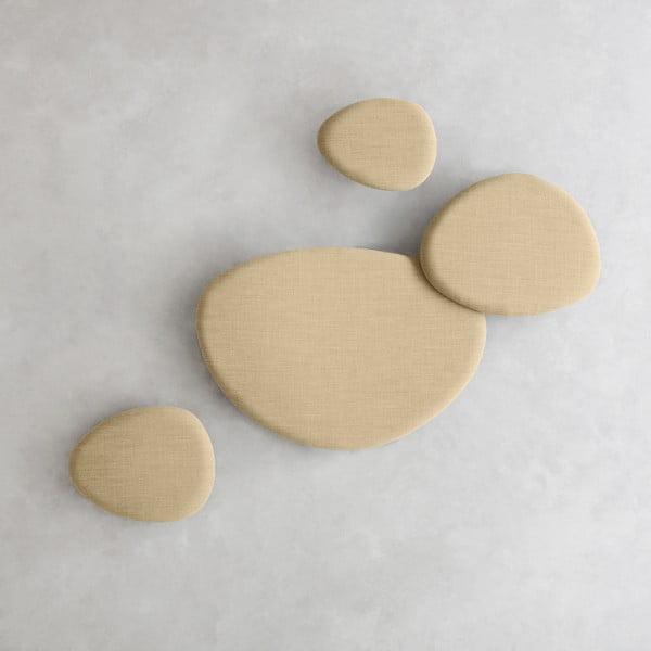 Zestaw 4 paneli wygłuszających, piaskowe