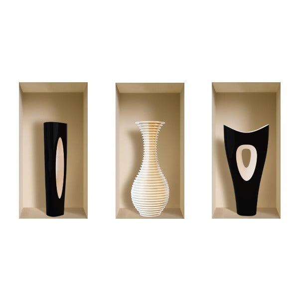 Naklejki na ścianę 3D Vases Lucciano