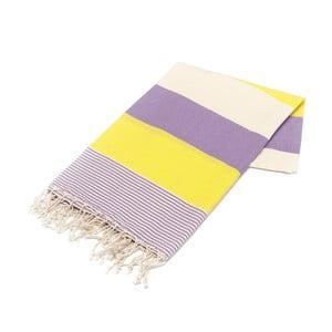 Ręcznik hammam American Stripes Lilac, 100x180 cm