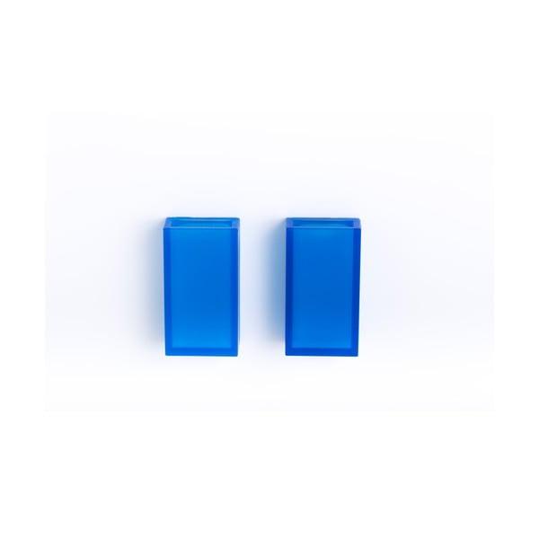 Samoprzylepny ścienny kubek na szczotki do zębów Listo Blue, 2 szt.