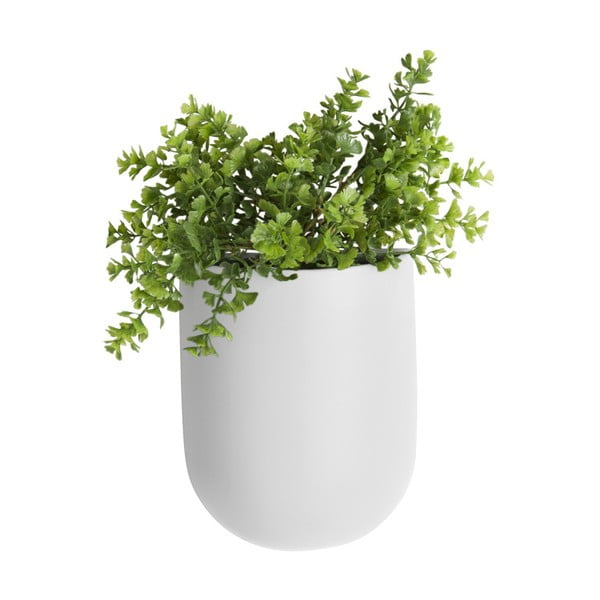 Matowa biała ceramiczna doniczka wisząca PT LIVING Oval