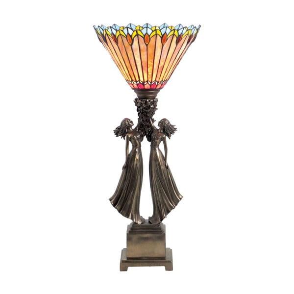 Lampa stołowa Tiffany Fire