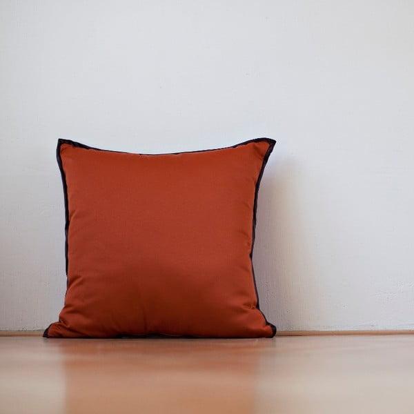 Poduszka z wypełnieniem Orange Saten, 50x50 cm
