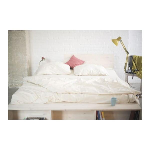 Łóżko Luke z regulowanym zagłówkiem i półkami, 180x200 cm