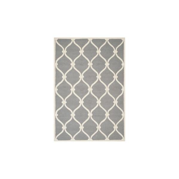 Wełniany dywan Hugo 152x243 cm, szary