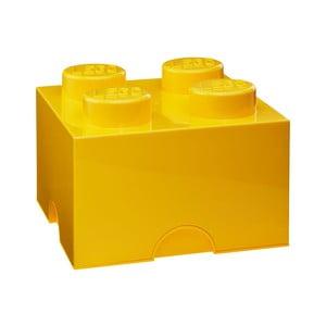 Żółty pojemnik kwadratowy LEGO®