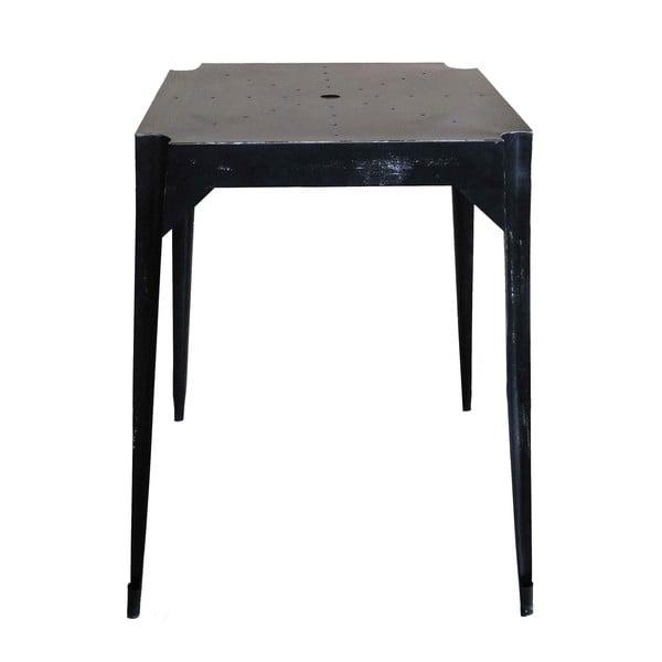 Metalowy stół retro Hayle, czarny