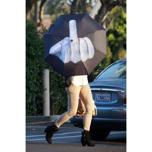 Składany parasol Fuck the rain