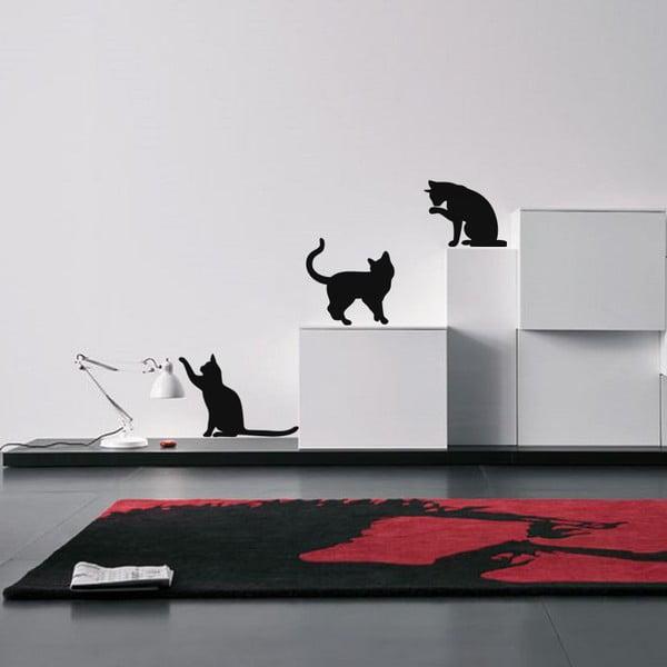 Zestaw 3 naklejek Ambiance Three Funny Cats