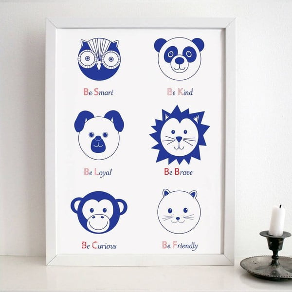 Plakat Nursery Blue, 30x40 cm