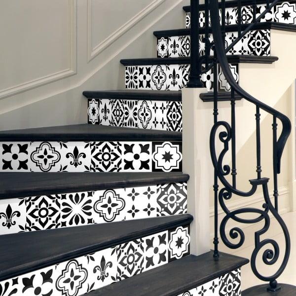 Komplet 2 naklejek na schody Ambiance Damiano, 15x105 cm