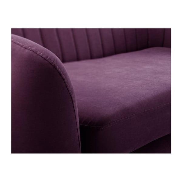 Fioletowa sofa narożna Scandi by Stella Cadente Maison Comete, lewostronna