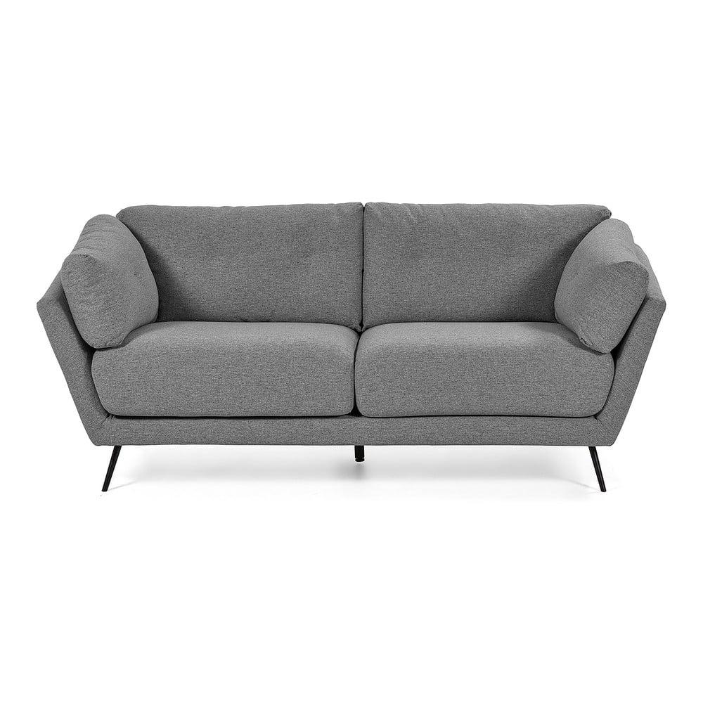 Szara 3-osobowa sofa La Forma Sahira