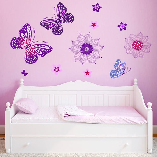 Naklejka ścienna Zaczarowane motyle, 90x60 cm