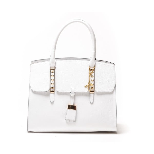 Skórzana torebka Renata Corsi 432, biała