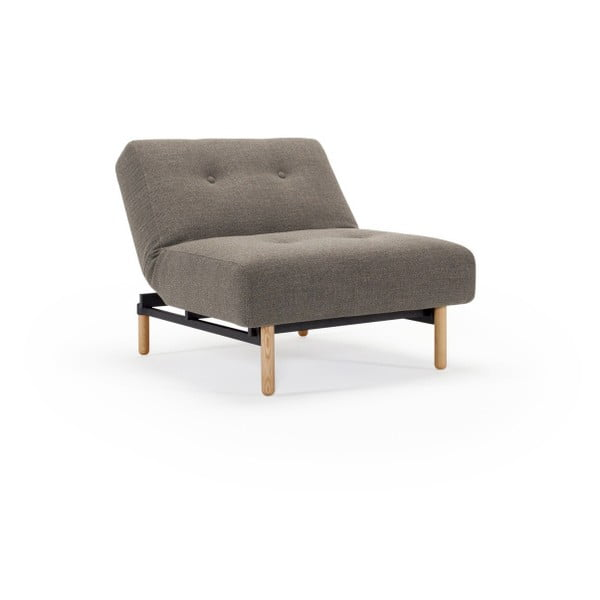 Brązowobeżowy rozkładany fotel Innovation Ample Kenya Taupe