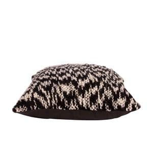 Poduszka Knit 45x45 cm, czarno-biała