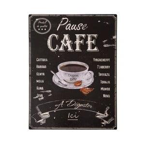 Tabliczka z blachy Antic Line Pause Café