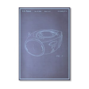 Plakat Boom Box, 30x42 cm