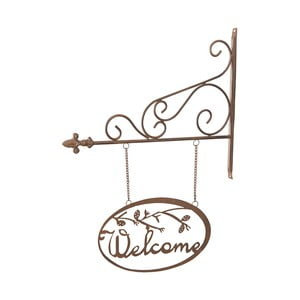 Metalowy znak Welcome, 54 cm