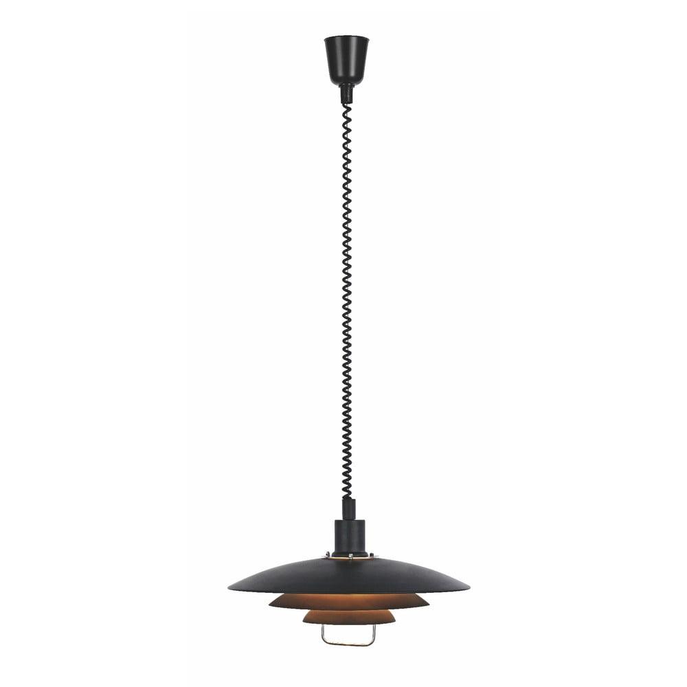 Czarna lampa wisząca Markslöjd Kikrenes, ø 48 cm